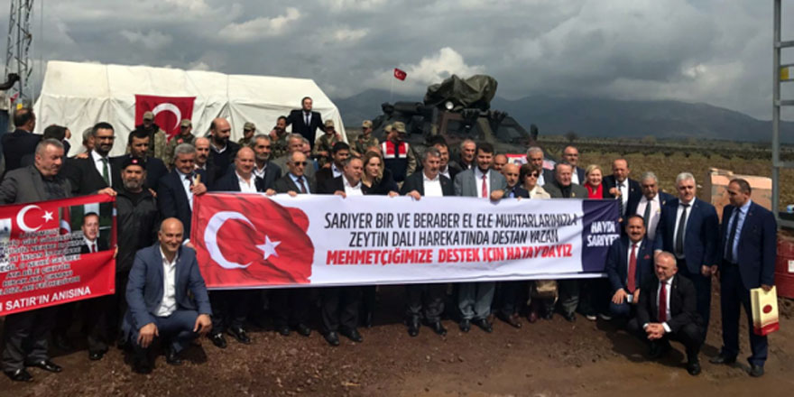 Sarıyer'den Zeytin Dalı Harekâtı'na destek