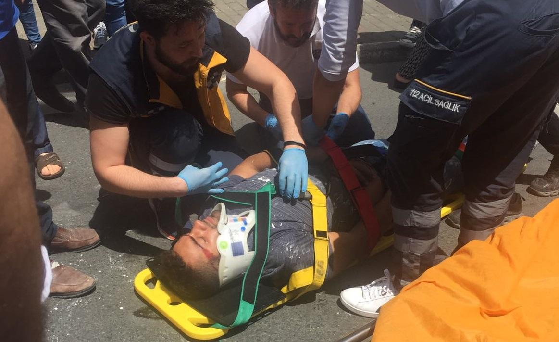 Üçüncü kattan düşen boyacı ustası ağır yaralandı