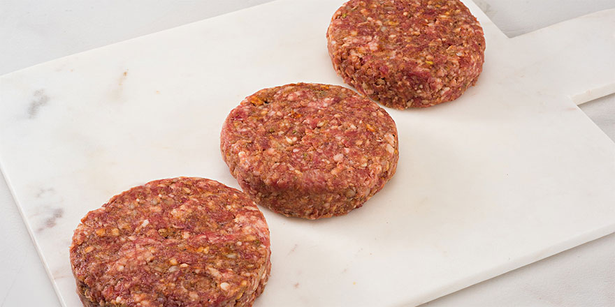 Kaşarlı köfte hamburger köftesi