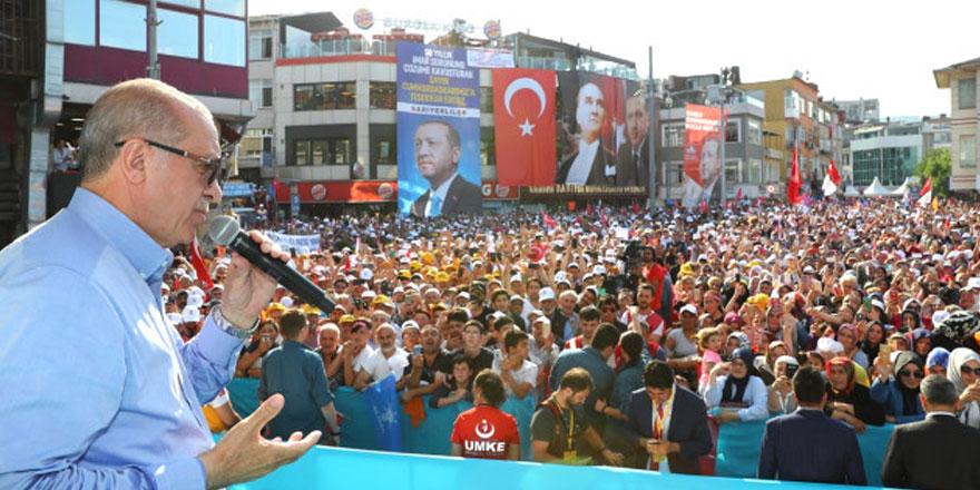 Cumhurbaşkanı Erdoğan Sarıyer'de halka seslendi