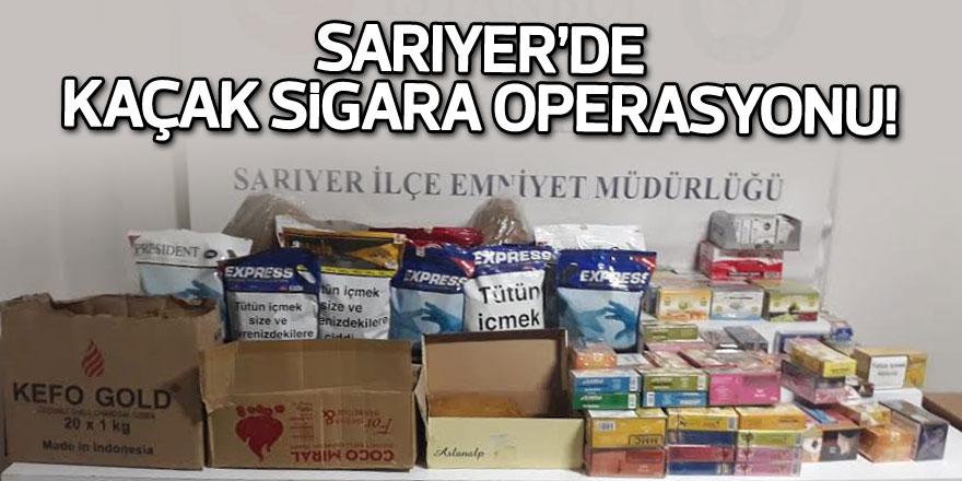 Sarıyer'de kaçak sigara operasyonu