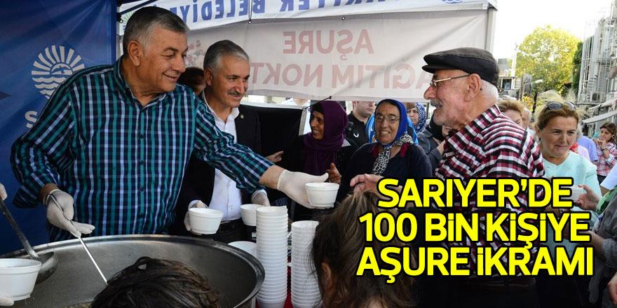 Sarıyer'de 100 bin kişiye aşure ikramı