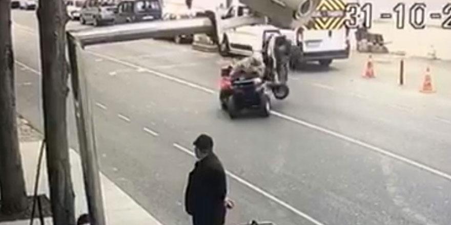 Yeniköy'de kaza anı kameralara yansıdı - VİDEO