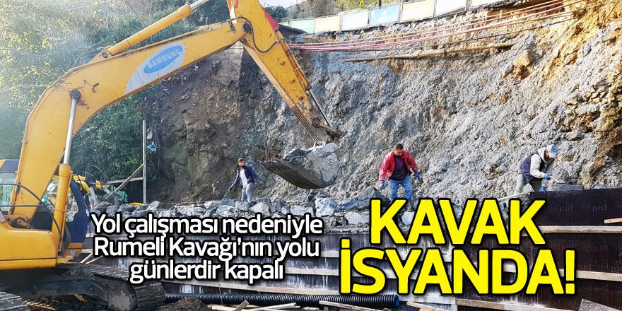 Yol çalışması nedeniyle Rumeli Kavağı'nın yolu günlerdir kapalı