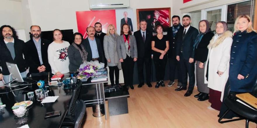 Bayraktar'dan ilçe başkanlarına ziyaret