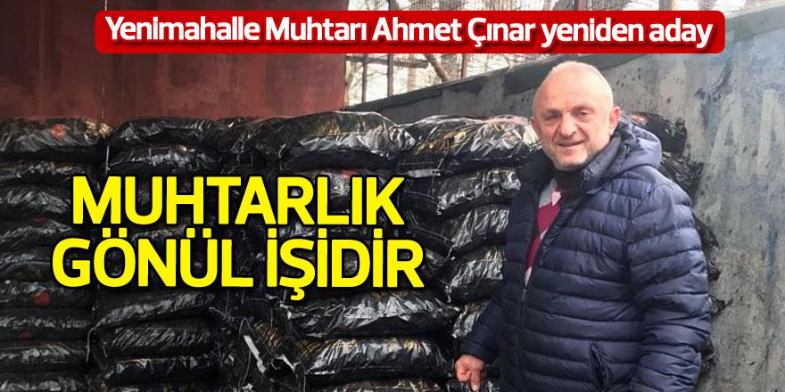 Yenimahalle Muhtarı Ahmet Çınar yeniden aday