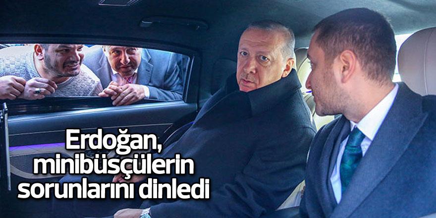 Erdoğan, Sarıyerli minibüsçülerin sorunlarını dinledi
