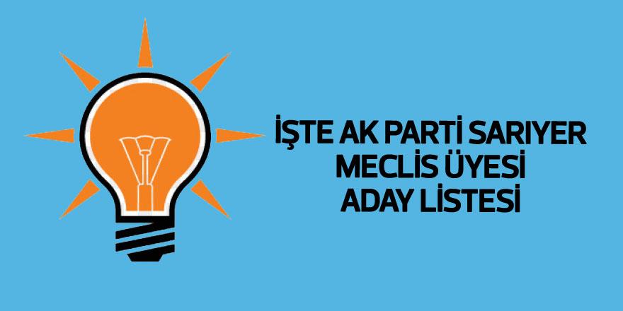 İşte AK Parti Sarıyer Meclis Üyesi Adayları listesi