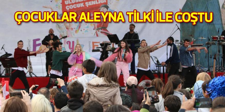Çocuklar Aleyna Tilki ile coştu