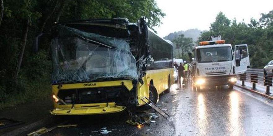 Sarıyer'de zincirleme kaza: 2 yaralı