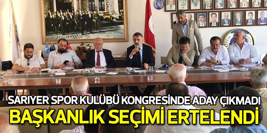 Sarıyer Spor Kulübü kongresinde aday çıkmadı, seçim ertelendi