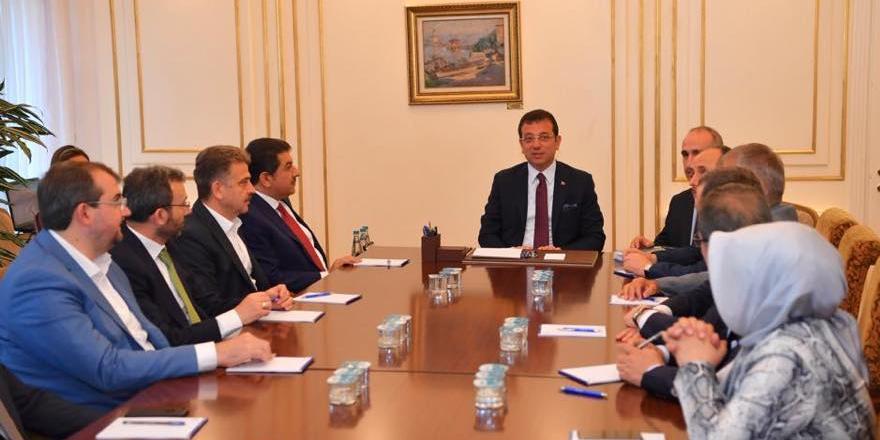 AK Partili başkanlardan Ekrem İmamoğlu'na ziyaret