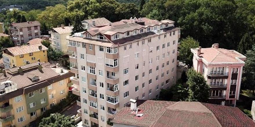 Sarıyer'de kolonları patlayan 9 katlı bina tahliye edildi