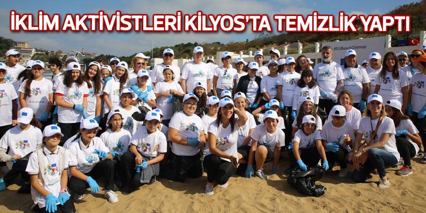 İklim aktivistleri Kilyos'ta temizlik yaptı