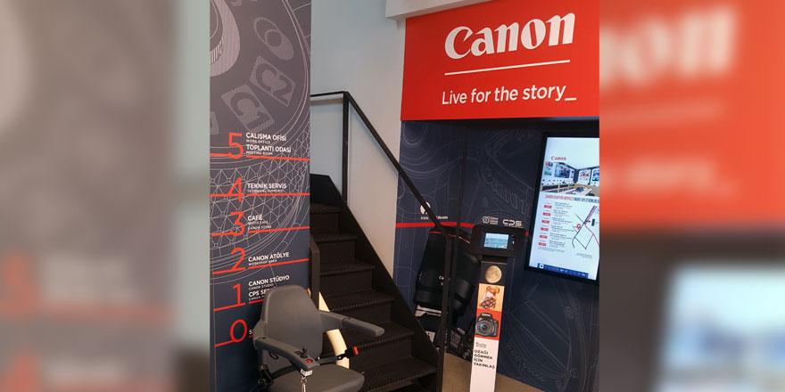 Canon Türkiye, merdiven asansöründe Handicare ve LiftArt markasını tercih etti