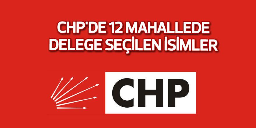 CHP'de 12 mahallede delege seçilen isimler