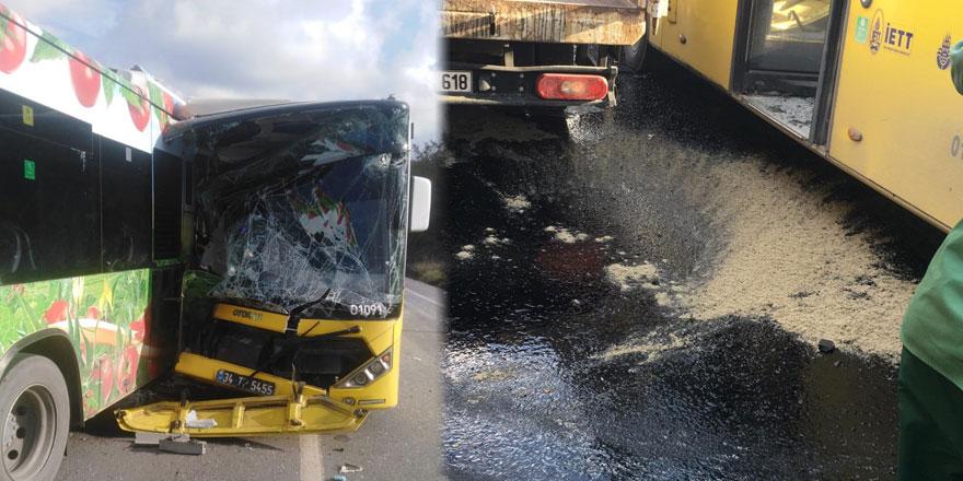 Sarıyer'de iki otobüs çarpıştı: 4 yaralı