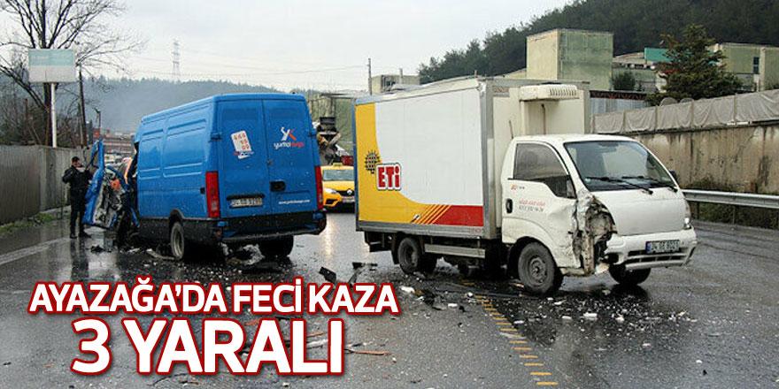 Ayazağa'da feci kaza: 3 yaralı