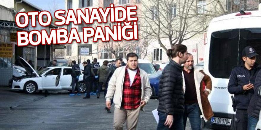Atatürk Oto Sanayi Sitesi'nde bomba paniği