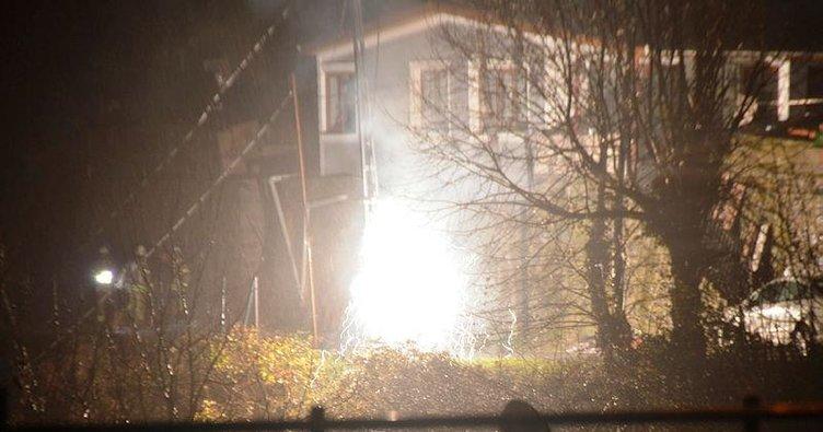 Sarıyer'de elektrik trafosunda yangın çıktı