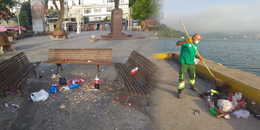 Sarıyer'de normalleşme bilançosu: 7,5 ton çöp toplandı