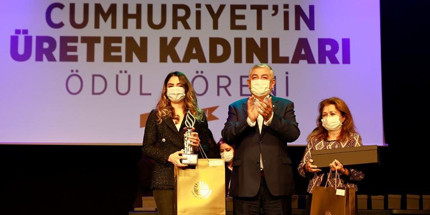 Üreten kadınlar ödül aldı