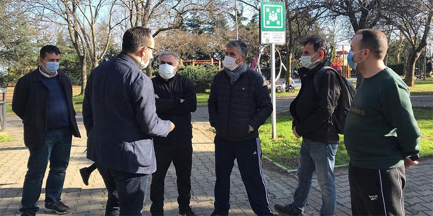 İBB meclis üyeleri Sarıyer'deki parkların eksiklerini raporladı