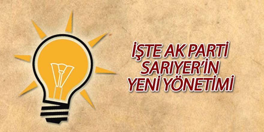 İşte AK Parti Sarıyer'in yeni yönetimi
