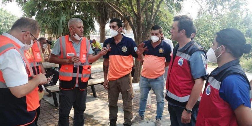 Sarıyer Belediyesi ekipleri yangın bölgesinde