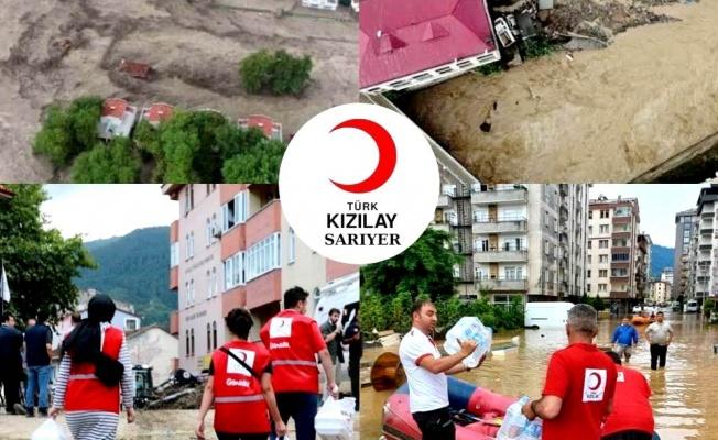 Kızılay'dan sel bölgesine yardım kampanyası
