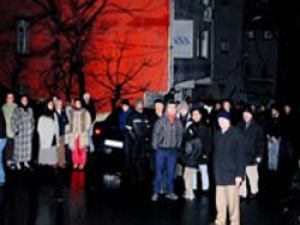 Reşitpaşa'da elektrik protestosu
