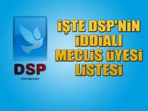 İşte DSP'nin iddialı listesi