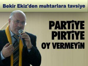 Partiye pırtiye oy vermeyin