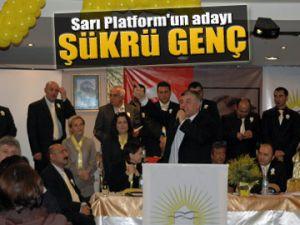 Sarı Platform'un adayı: Şükrü Genç