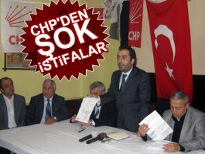CHP'den şok istifalar