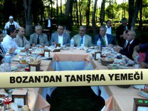 Bozan'dan tanışma yemeği