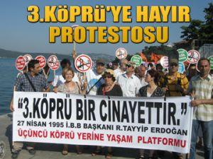 Sarıyer'de 3.Köprü protestosu