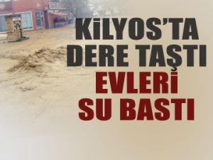 Kilyos'ta evleri su bastı