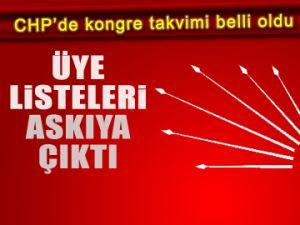 CHP üye listeleri askıya çıktı