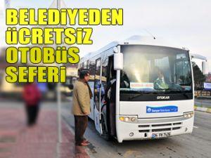 Belediyeden ücretsiz otobüs seferi