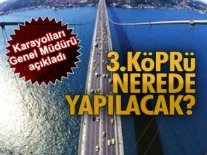 3.Köprü nerede yapılacak?