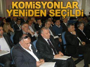 Komisyonlar yeniden seçildi