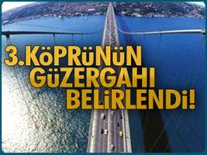 3.Köprü güzergahı belirlendi