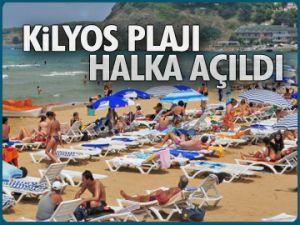 Kilyos plajı halka açıldı