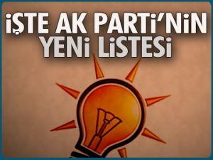 İşte AK Parti'nin yeni listesi