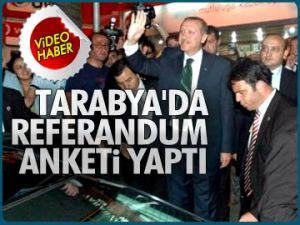 Erdoğan Tarabya'da anket yaptı