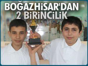 Boğazhisar'dan 2 birincilik