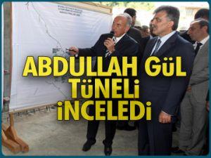 Cumhurbaşkanı tüneli inceledi