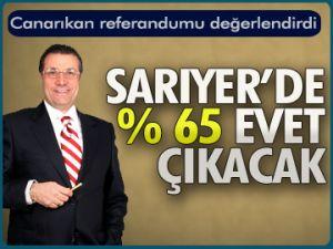 'Sarıyer'de %65 'Evet' çıkacak'
