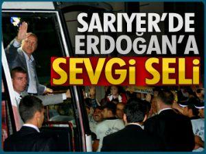Sarıyer'de Erdoğan'a sevgi seli